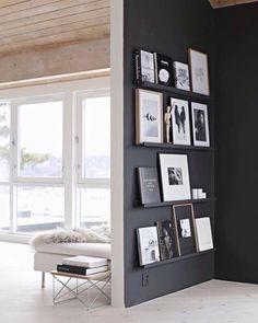 Tasot seinään kuville. Olohuoneen käytävä?