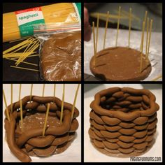 Making a fondant basket.