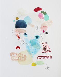 Peinture abstraite art de laquarelle impression Giclée nº, VictoriAtelier