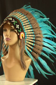 Hey, I found this really awesome Etsy listing at https://www.etsy.com/listing/197440898/authentic-indian-headdress-small-teal