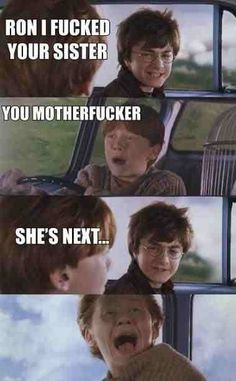 Harry Potter admits he has slept with Ron Weasleys Sister!  Like to claim your free Harry Potter and the Deathly Hallows Part 1 dvd. http://on.fb.me/mXALvK - valid to 1st August 11