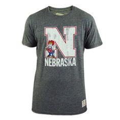Nebraska Cornhuskers Vintage Grey Crew T-Shirt