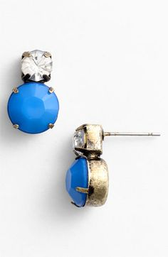 Neon Stud Earrings Blue