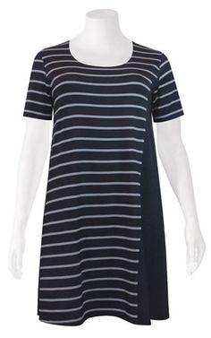 Weyre - spliced tee dress TOWANDA womenswear - plus size designer fashion boutique women's clothes shop.
