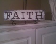Was feeling a little crafty over the weekend and found a piece of wood in the shed and some letters in my craft table and some paint. took about an hour to make and I love it.looks nice on top of my pantry Home Decor Online Shopping, Home Decor Catalogs, Home Decor Shops, Cute Home Decor, Cheap Home Decor, Home Decor Fabric, Home Decor Furniture, Leopard Home Decor, Home Decorators Rugs
