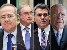 Ministério Público pediu a prisão dos peemedebistas Renan Calheiros, Eduardo Cunha, Romero Jucá e José Sarney (Foto: Agência Senado e Agência Brasil)