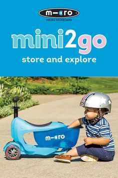 The Mini2Go is Micro's new award winning ride-on and scooter for ages 18 mo+. Whether cruising around the playroom or outdoors at the park, your toddler will love playing with the Mini2Go drawer, designed for carrying his or her most precious possessions. Shop the Mini2Go Scooter today!