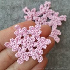 These floral crochet snowflakes take less than 10 minutes to make. What is your favourite quick Christmas 'make'? Crochet Zebra, Crochet Snowflake Pattern, Crochet Elephant, Crochet Motifs, Christmas Crochet Patterns, Crochet Snowflakes, Crochet Flower Patterns, Crochet Flowers, Christmas Snowflakes