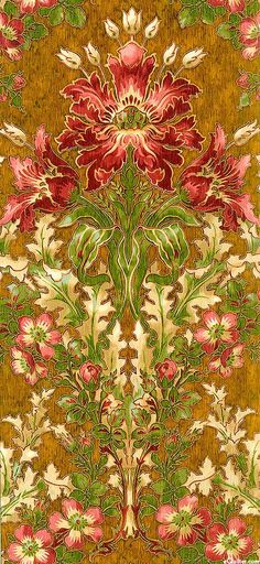 "sutton15445: ""the-rouge-rose2u: ""eQuilter Claridge Manor - Morris Flower - English Toffee/Gold "" http://sutton15445.tumblr.com/ Enjoy the view from my world…My Paisley World. """