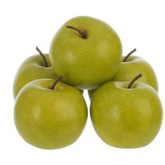 Artificial Granny Smith Apples, Set of 5 ($6.97) ❤ liked on Polyvore featuring home, home decor, floral decor, fruit bowl and apple home decor
