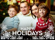 Add your own photo to this holiday card! CatPrint Design #789