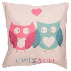 JennGifts - Owl You Need is Love Cushion, £12.00 (http://jenngifts.co.uk/owl-you-need-is-love-cushion/)