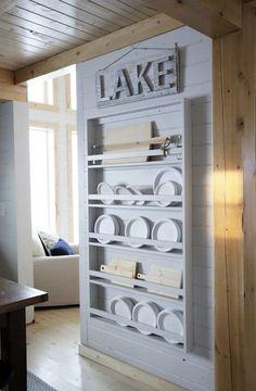 Full Length Plate Rack for Our Cabin