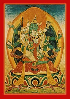 Dhyani Buddha Amoghasiddhi and Dakini consort Samayatara frolic in the north, volition in union with the element wind. All-Powerful One and the She Who Liberates. They are associated with the power of subjugation. Lords of the Karma family.
