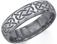 "From ArtCarved, this grey tungsten carbide band features a comfort fit. Available in men's and women's sizes. All ArtCarved bands come with ""The ArtCarved Forever Fit Warranty"". Wedding Bands For Him, Celtic Wedding Rings, Wedding Ring Bands, Wedding Shit, Bridal Rings, Wedding Stuff, Alternative Metal, Engagement Ring Stores, Engagement Ideas"