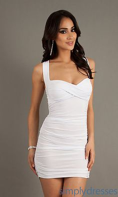 Short Sleeveless Ruched Dress at SimplyDresses.com