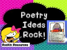 Over 200 ideas for Poetry Month! Find something for every grade level. Activities, lessons, websites, printables, powerpoints and more! Designed by Rockin Resources