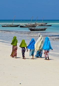 Women of the fishing village of Nungwi Beach, Zanzibar Africa Our Africa