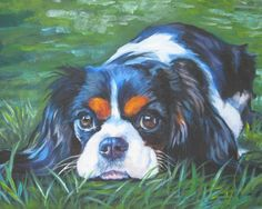 #Cavalier King Charles Spaniel #art print CANVAS by TheDogLover #dogs