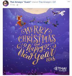 Merry Christmas & Happy New Year 2018 from Thai Airways : ) https://www.facebook.com/thaiairwaysguam/