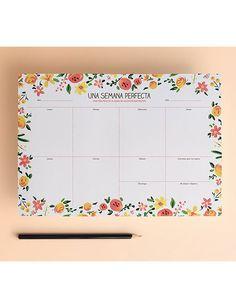 Planificador semanal en tamaño A4