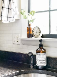 Have you ever considered adding peel & stick backsplash in your home? Are you curious how they hold up over time? Get all your questions answered and find out how ours are holding up three years later! Cute Apartment, Apartment Bedroom Decor, Room Decor Bedroom, Bedroom Signs, Bed Room, Bedroom Ideas, Smart Tiles Backsplash, Peel Stick Backsplash, Industrial Farmhouse Kitchen