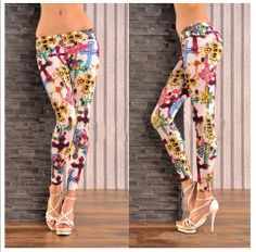 ladies leggings sex photo:MOQ colour and design,all in stock,delivery in with goods sewing and big elasticity Cross Leggings, Women's Leggings, Ladies Leggings, Coloured Leggings, Indie Brands, Used Clothing, Colorful Fashion, Printed Leggings, Affordable Fashion
