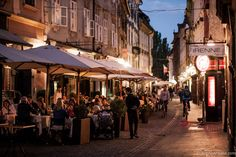 Ljubljana old town is full of nice restaurants and even relaxing atmosphere.
