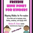 Hink Pinks are riddles wherein the clues lead you to a 2 word answer.  Each answer word must have just one syllable and the 2 words must rhyme.  Wh...