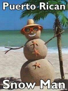 El Hombre de Arena Puertorriqueño, en vez del Hombre de Nieve en EU...Buena Idea..
