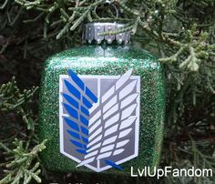 Attack on TItan Christmas Ornament Can be by LvlUpFandom on Etsy