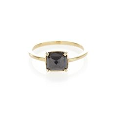 Dear Rae // Black Diamond 9ct yellow gold ring