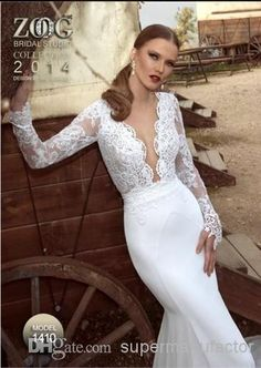 Choose 2014 lace wedding dresses v neck long sleeve zoog studio bridal gowns lace applique sheath stain backless floor length dresses on DHgate.com recommended by supermanufactor. Including party wedding dress, sheath lace wedding dresses and sheath style wedding dress, DHgate.com provides you multiple choices.