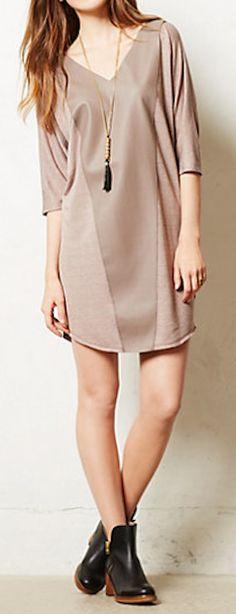 love the long tunic dress