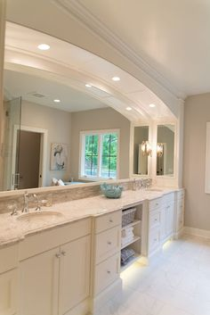 Real Fit Housewife: Welcome to my Home: Our Little Slice of Heaven  Master bath, quartz counters, marble tile, marble, vanity