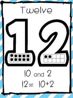 Teen Number Posters- Common Core Aligned Genius!!  Love the way place value is represented with ten frames.