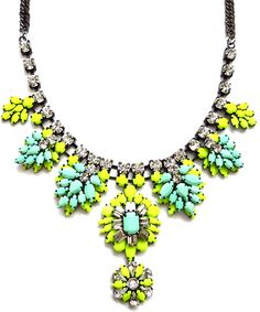 Neon Yellow & Stroid Mint Necklace @ Shop Lately $50 LOVE