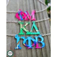 GREEK- Floating Greek Letters Necklace - Officially Greek Licensed - click to purchase!
