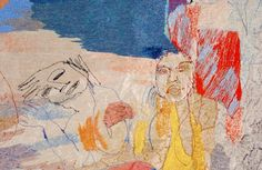 Alice Kettle - Odyssey detail 2003,  180x385cm.