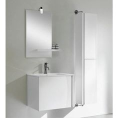 Alcina with Handleless Door and Side Storage Bathroom Vanity Units, Wall Hung Vanity, Bathroom Furniture, Ireland, Bathtub, The Unit, Doors, Contemporary, Mirror
