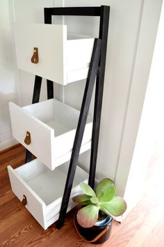 DIY Ladder Shelf Gets a Modern Update