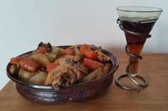 Viking chicken stew with turnips and beer
