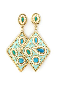 Paisley Domina Earrings in Turquoise