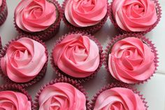 Diane's Chocolate Brownie Cupcakes with Raspberry Buttercream Frosting