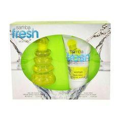 Samba Fresh by Samba Gift Set -- 3.4 oz Eau De Toilette Spray + 4.4 oz Body Lotion by SAMBA. $16.84. Gift Set -- 3.4 oz Eau De Toilette Spray + 4.4 oz Body Lotion. Samba Fresh by Samba Gift Set -- 3.4 oz Eau De Toilette Spray + 4.4 oz Body Lotion