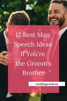 When it comes to preparing a best man speech for your brother's wedding, there's a lot of pressure. Here's how to create a speech that will impress your brother and all of the guests. Wedding Events, Wedding Reception, Wedding Favors, Wedding Invitations, Wedding Rings, Wedding Ideas, Wedding Stuff, Wedding Inspiration, Brother Best Man Speech