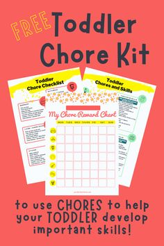 Download your FREE Toddler Chore Kit. Age appropriate chores to improve developmental skills your toddler needs. Toddler Learning Activities, Fun Activities, Chore Rewards, Chore Checklist, Toddler Chores, Age Appropriate Chores, Gross Motor Skills, Toddler Crafts, Confidence