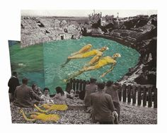 Cut & paste collage (old National Geographic cuttings).