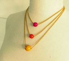 WobiSobi: Bead and Chain Necklace, DIY