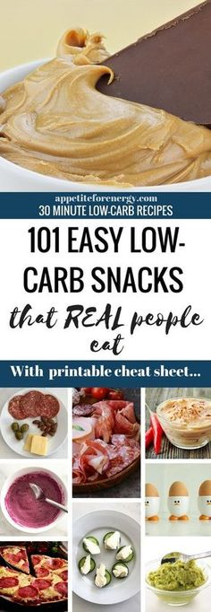 Find out how real people survive on a keto diet with our HUGE list of 101 low-carb snacks. From the weird to the wonderful, we've found something for everyone. Download the FREE printable cheat sheet. Low-carb diet snacks | ketogenic diet snacks| easy keto snacks | #LowCarbDietSnacks #KetoSnacks #WeightlossSnacks via @appetitefornrg